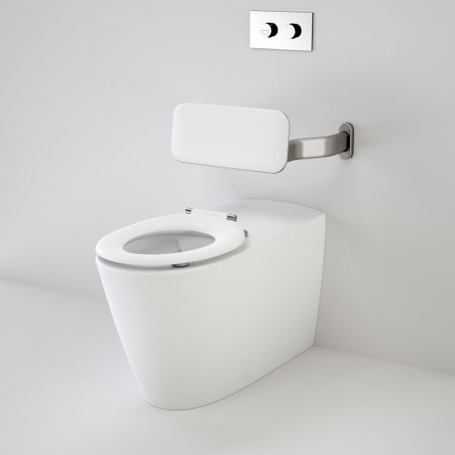Care 800 Cleanflush® Invisi Series II® Wall Faced Suite With Backrest And Pedigree II Care Single Flap Seat - White [137914]