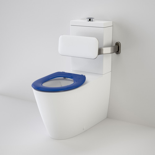 Care 800 Cleanflush® Wall Faced Suite With Backrest And Caravelle Care Single Flap Seat - Sorrento Blue [137918]