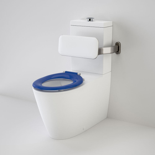 Care 800 Cleanflush® Wall Faced Suite With Backrest And Pedigree II Care Single Flap Seat - Sorrento Blue [137922]