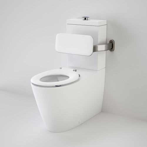 Care 800 Cleanflush® Wall Faced Suite With Backrest And Pedigree II Care Single Flap Seat - White [137934]