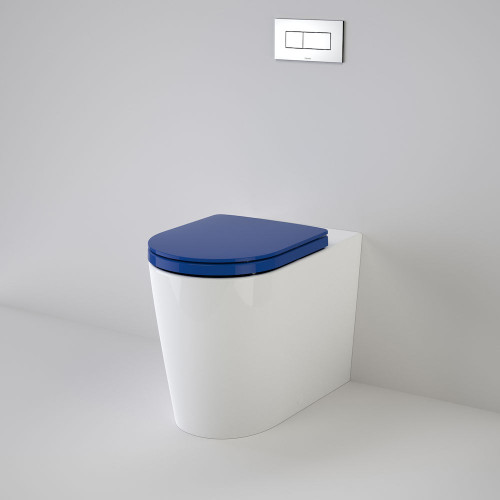 Liano Cleanflush® Invisi Series II® Easy Height Wall Faced Suite With Liano Double Flap Seat - Sorrento Blue [137935]