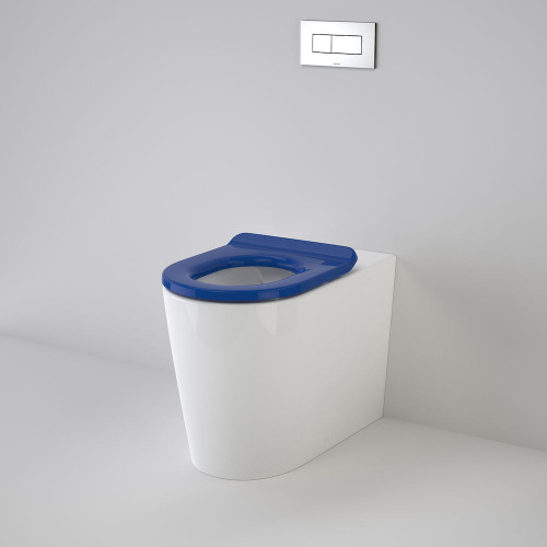 Liano Cleanflush® Invisi Series II® Easy Height Wall Faced Suite With Liano Care Single Flap Seat - Sorrento Blue [137936]