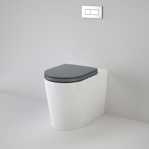 Liano Cleanflush® Invisi Series II® Easy Height Wall Faced Suite With Liano Double Flap Seat - White [137939]