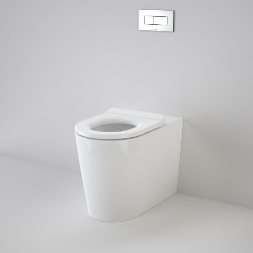Liano Cleanflush® Invisi Series II® Easy Height Wall Faced Suite With Liano Care Single Flap Seat - White [137940]