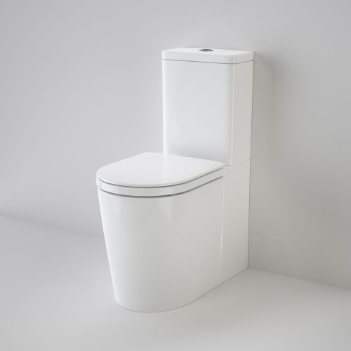 Liano Cleanflush® Easy Height Wall Faced Suite With Liano Double Flap Seat - White [137945]