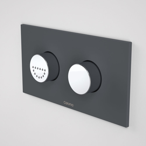 Invisi Series II® Round Dual Flush Plate & Raised Care Buttons (Plastic) Afternoon Daze [138965]