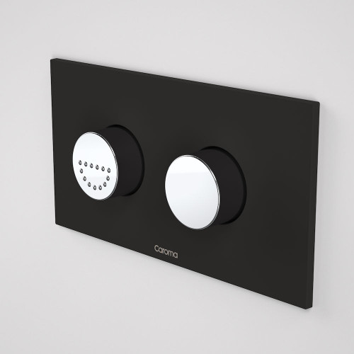 Invisi Series II® Round Dual Flush Plate & Raised Care Buttons (Plastic) Midnight Dream [138966]