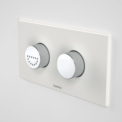 Invisi Series II® Round Dual Flush Plate & Raised Care Buttons (Plastic) Morning Glow [138967]