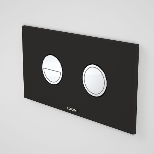 Invisi Series II® Round Dual Flush Plate & Buttons (Metal) Black W/ Chrome Buttons [138968]
