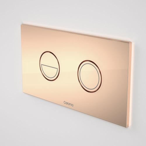 Invisi Series II® Round Dual Flush Plate & Buttons (Metal) Copper [138972]