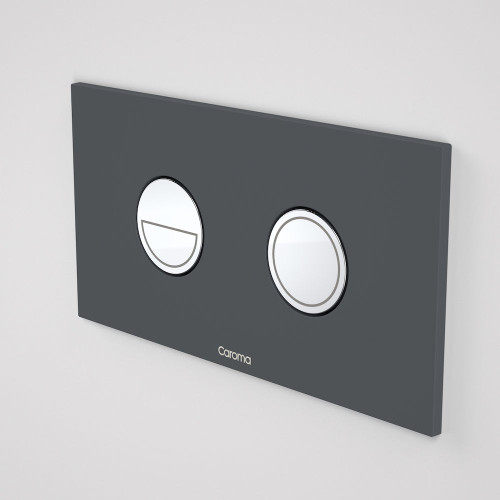 Invisi Series II® Round Dual Flush Plate & Buttons (Metal) Dark Grey [138973]