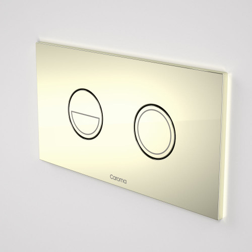 Invisi Series II® Round Dual Flush Plate & Buttons (Metal) Gold [138974]