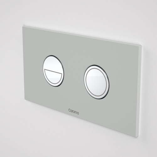 Invisi Series II® Round Dual Flush Plate & Buttons (Metal) Light Grey [138975]