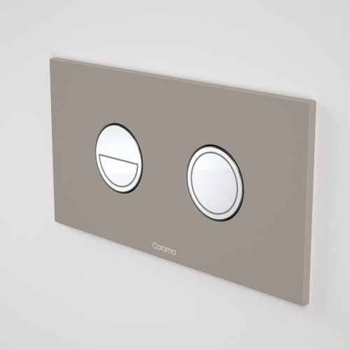 Invisi Series II® Round Dual Flush Plate & Buttons (Metal) Mid Grey [138976]