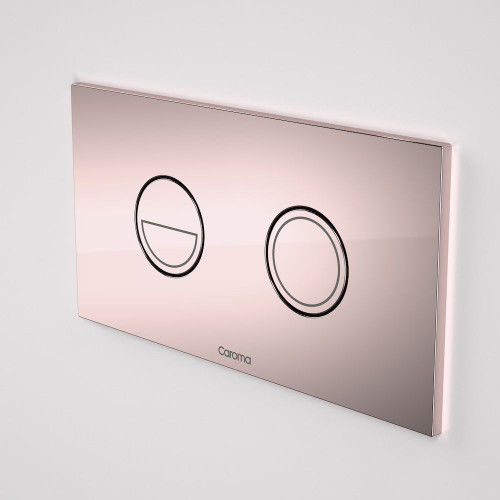 Invisi Series II® Round Dual Flush Plate & Buttons (Metal) Rose Gold [138978]