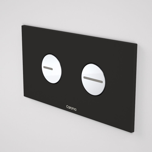 Invisi Series II® Round Dual Flush Plate & Buttons (Plastic) Black [138955]