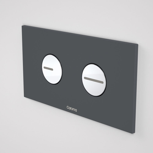 Invisi Series II® Round Dual Flush Plate & Buttons (Plastic) Dark Grey [138957]