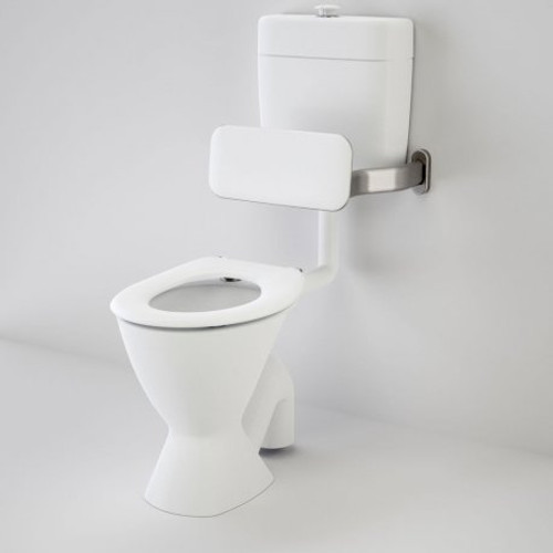 Care 100 V2 Connector (S Trap) Suite With Backrest And Caravelle Care Single Flap Seat - White [151913]