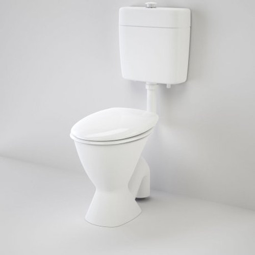 Care 100 V2 Connector (S Trap) Suite With Caravelle Care Double Flap Seat - White [151925]