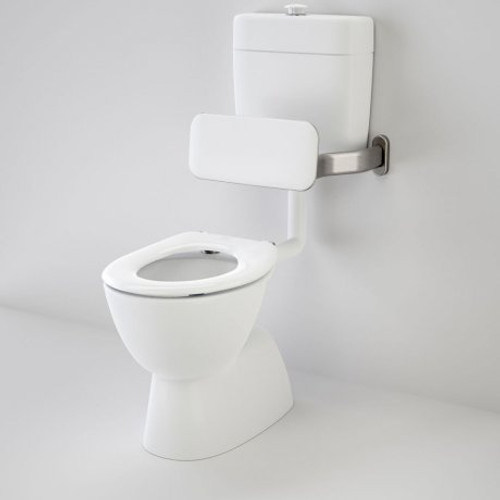 Care 200 V2 Connector (S Trap) Suite With Backrest And Caravelle Care Single Flap Seat - White [151928]