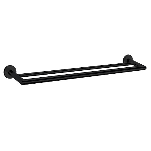 Boston II Double Towel Rail 850mm Black [156578]