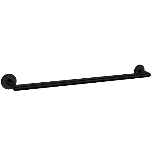 Boston II Single Towel Rail 850mm Black [156581]