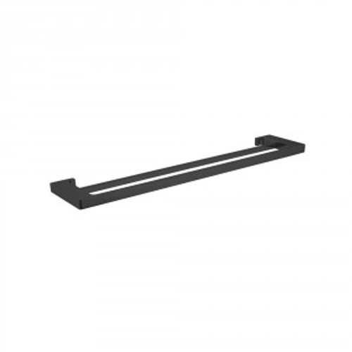 Edge II Double Towel Rail 785mm Black [156589]