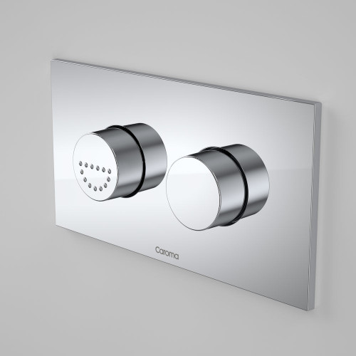 Invisi Series II® Round Dual Flush Plate & Raised Care Buttons (Plastic/Metal) [157693]