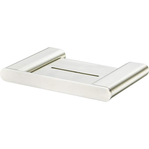 Madrid Brushed Nickel Soap Holder With Shelf [158761]