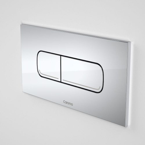 Invisi Series II® Oval Dual Flush Plate & Buttons (Metal) Chrome [158805]