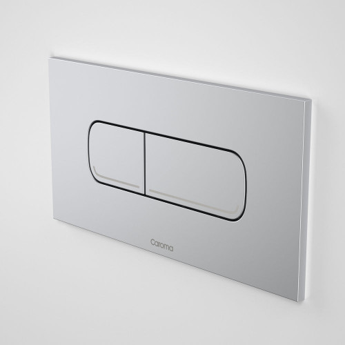 Invisi Series II® Oval Dual Flush Plate & Buttons (Metal) Satin [158806]