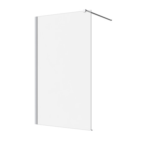 M Series 10Mm Wall Panel 960Mm - Clear Glass/ Chrome Fittings [131372]
