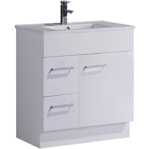 Essentials Vanity 2 Drawers 1 Door Lh White [153216]