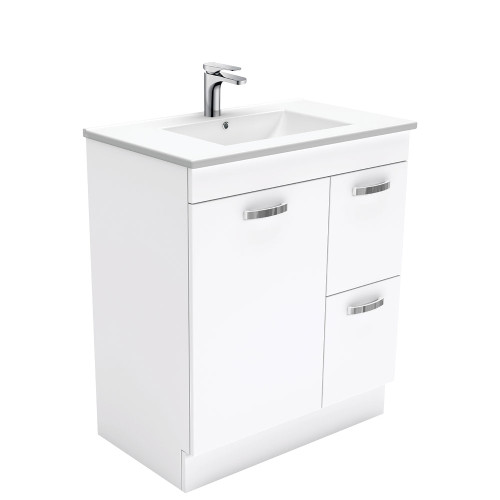 Dolce UniCab™ 750 Vanity on Kickboard - Right Drawers-1 Taphole [153194]