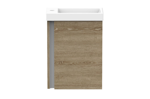 Vanity Hide W/Hung 1Th 1Dr 400mm Ceramic Gloss Wht Top [154982]