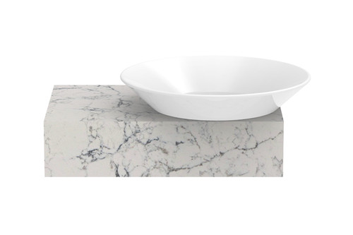 Bench Minima W/Hung 500mm W/- R/H Venus Gloss White Basin [155167]