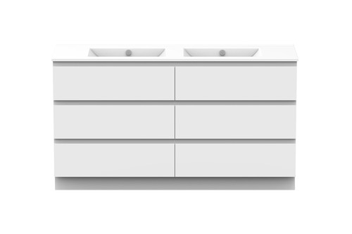 Glacier Ceramic All-Drawer Trio 1500 Double Bowl [159590]