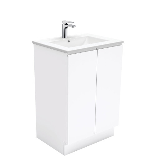 Dolce Fingerpull Gloss White 600 Vanity on Kickboard [165923]