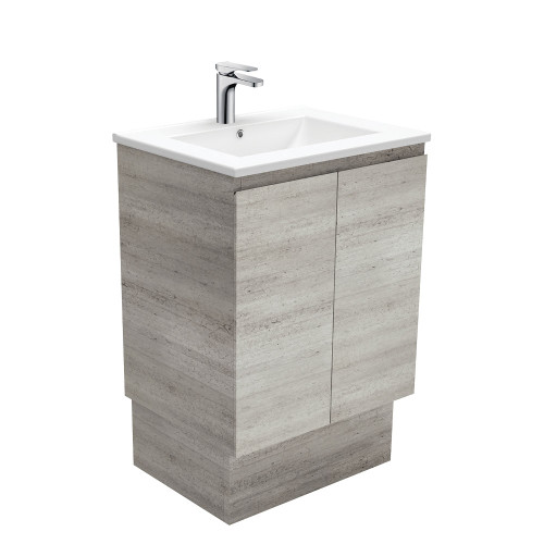 Dolce Edge Industrial 600 Vanity on Kickboard-1 Taphole [165300]