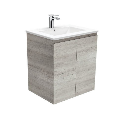 Dolce Edge Industrial 600 Wall-Hung Vanity-1 Taphole [165301]