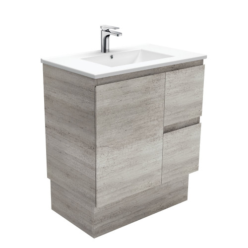 Dolce Edge Industrial 750 Vanity on Kickboard - Left Drawers-1 Taphole [165303]