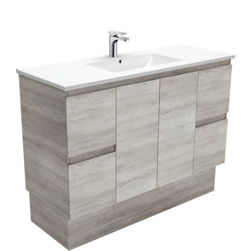 Dolce Edge Industrial 1200 Vanity on Kickboard-1 Taphole [165310]