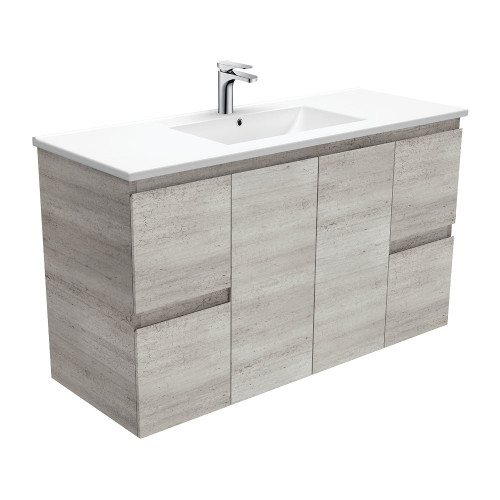 Dolce Edge Industrial 1200 Wall-Hung Vanity-1 Taphole [165311]