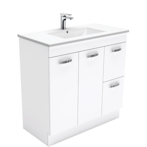 Dolce UniCab™ 900 Vanity on Kickboard - Right Drawers-1 Taphole [165265]