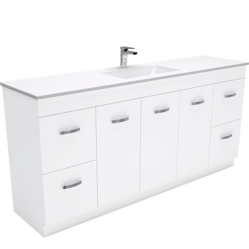 Vanessa UniCab™ 1800 Double Bowl Vanity on Kickboard-1 Taphole [168830]