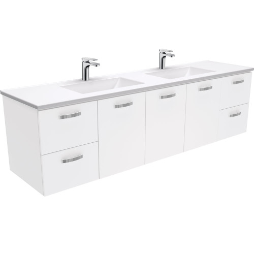Vanessa UniCab™ 1800 Double Bowl Wall-Hung Vanity-1 Taphole [168832]