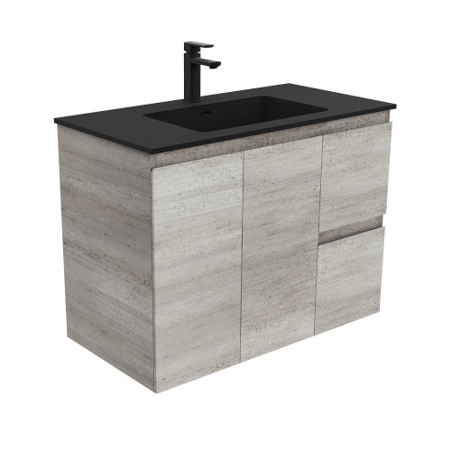 Montana Edge Industrial 900 Wall-Hung Vanity-1 Taphole (LEFT HAND DRAWER) [169390]