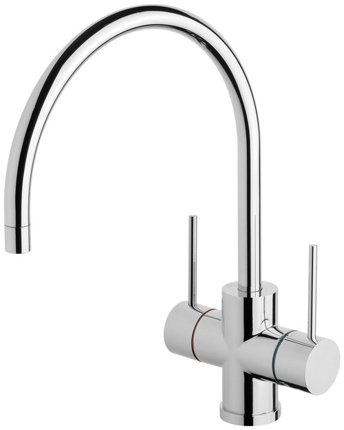 Vivid Slimline Twin Handle Sink Mixer  Gooseneck [158865]
