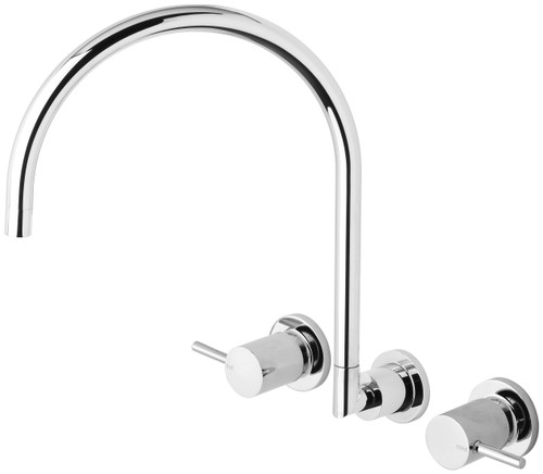 Vivid Pin Lever Wall Sink Set Gooseneck [158867]
