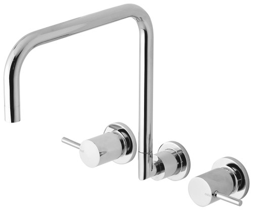 Vivid Pin Lever Wall Sink Set Squareline [158868]